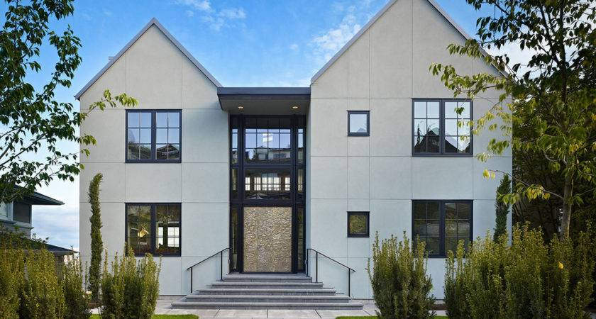 Cool Stucco Finishes Mode Seattle Transitional Exterior