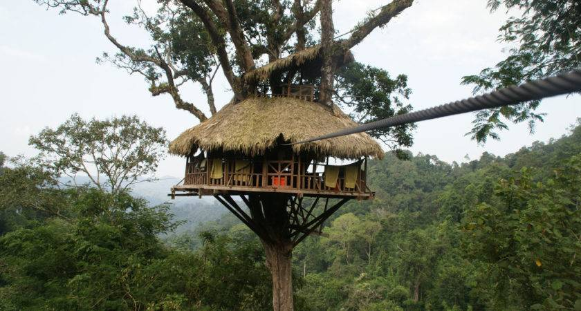 Cool Treehouse Hotel Laos Gibbon Experience