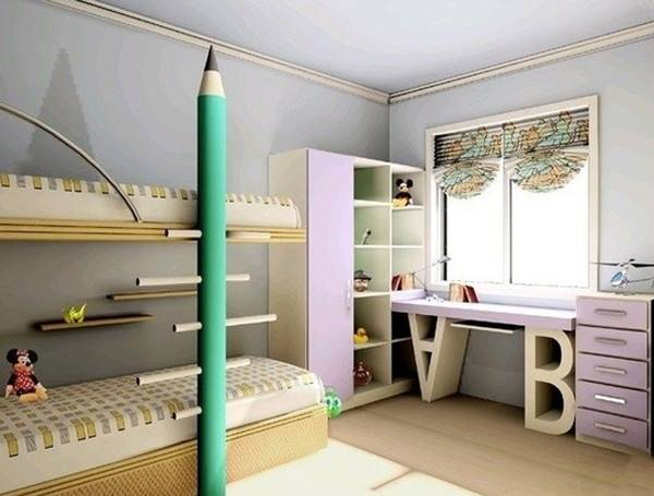 Cool Wonderful Kids Room Design Office