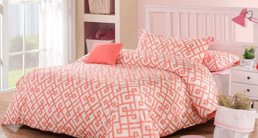 Coral Duvet Cover Set Ease Bedding Style