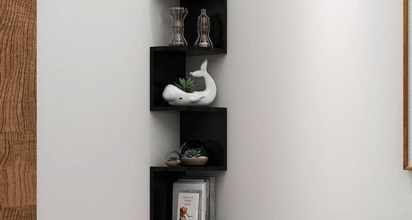 Corner Shelf Tier Wall Mount Unit Home Floating Storage