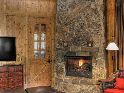 Corner Stone Fireplace Houzz
