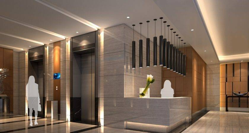 Counter Lounge Design Rendering Hotel Lobby
