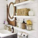 Country Bathroom Shelves Installed Above Toilet Decoist