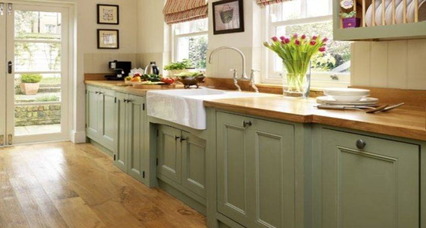 Country Style Dining Room Ideas Sage Green Painted