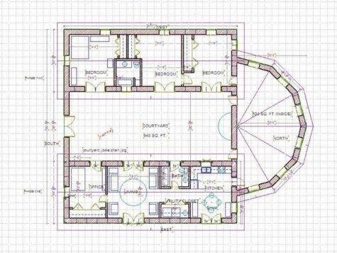 Courtyard Home Designs Small House Plans Courtyards