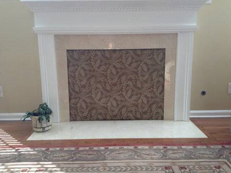 Cover Fireplace Opening Think Billion Estates