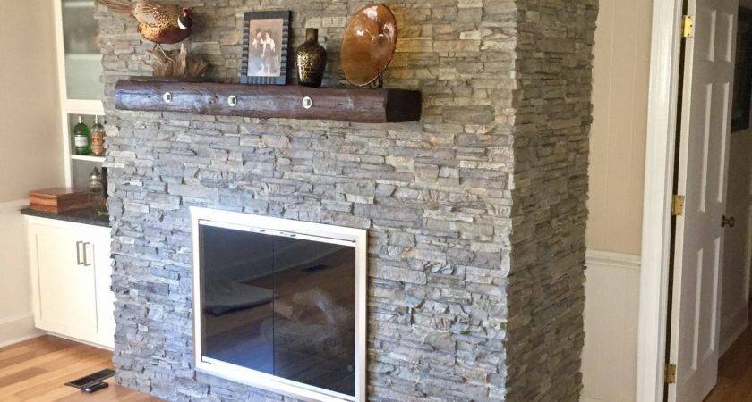 Covering Brick Fireplace Diy Project Creative Faux Panels