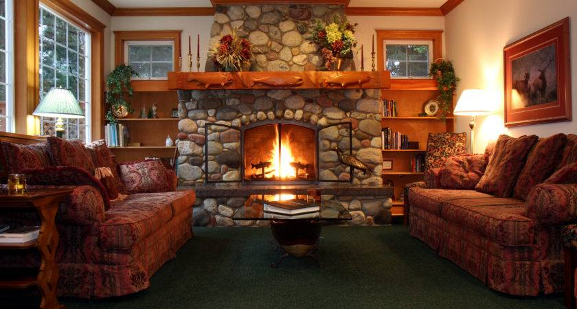 Cozy Living Room Fireplace Decorating Clear
