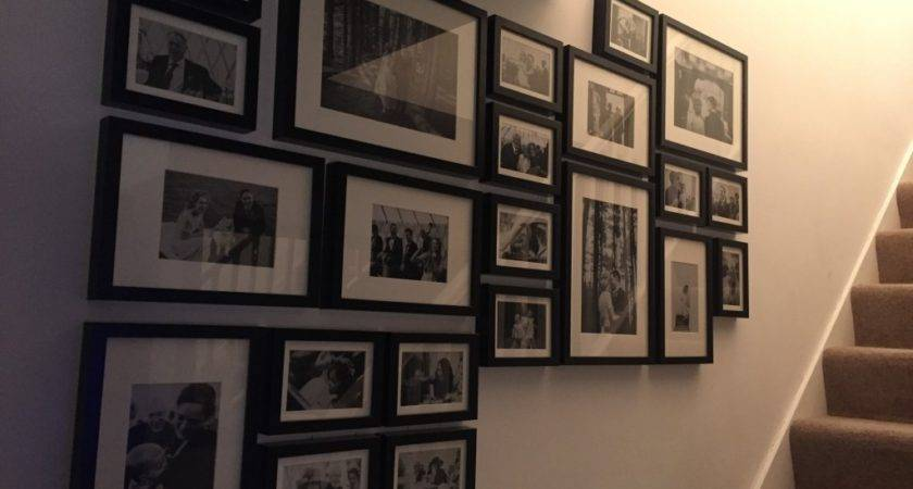 Create Wall Using Ikea Ribba Frames