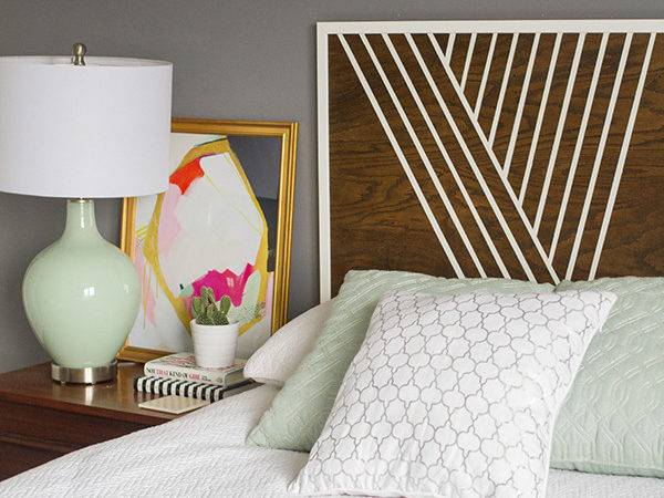Create Your Own Headboard Using Birch Wood Trim Paint