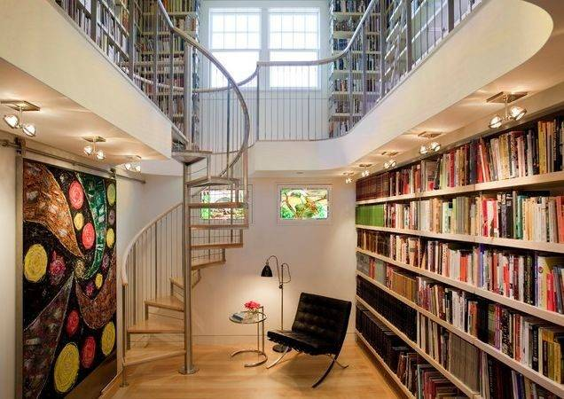 Creative Home Library Designs Unique Atmosphere