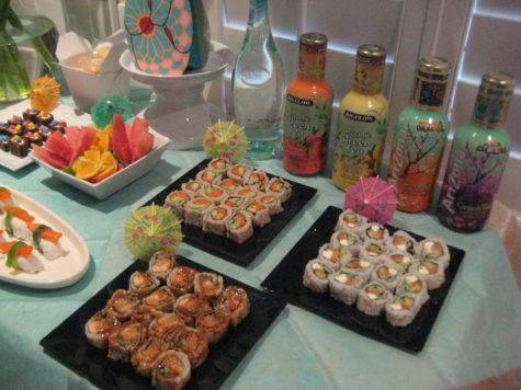 Creative Party Ideas Cheryl Japanese Sushi