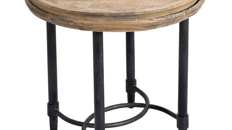Creative Vera Reclaimed Pine Tray Top Side Table