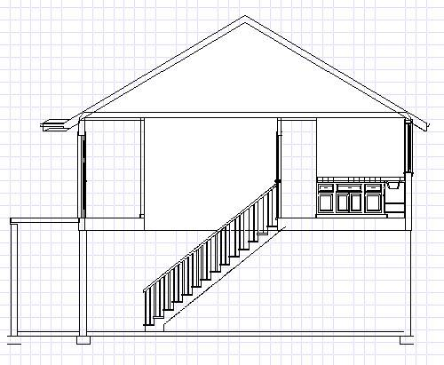 Cross Section Drawing House