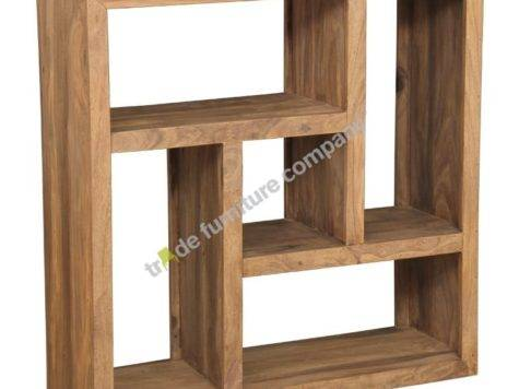 Cube Natural Centered Square Bookcase Sheesham Furniture
