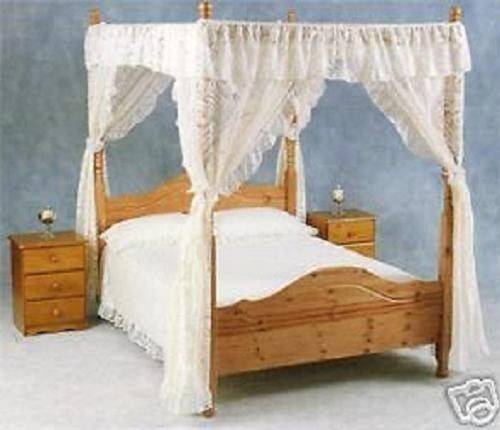 Curtain Lace Four Poster Bed Drapes Valance Ebay