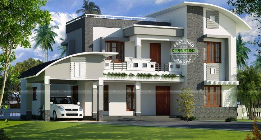 Curved Roof Design Homes House Plans