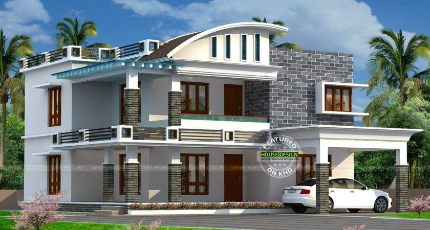 Curved Roof House Designs Design Ideas