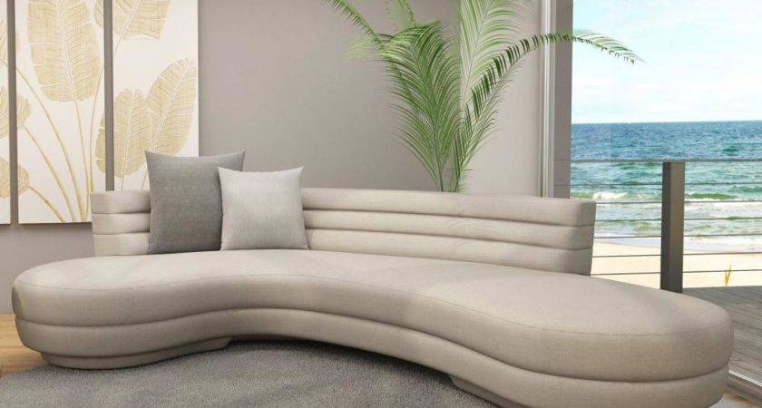 Curved Sofa Sectional Modern Large Round