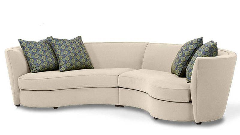 Custom Curved Shape Sofa Avelle Fabric Sectional Sofas