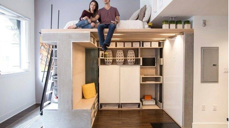 Custom Loft Maximizes Space Tiny Condo Freshome