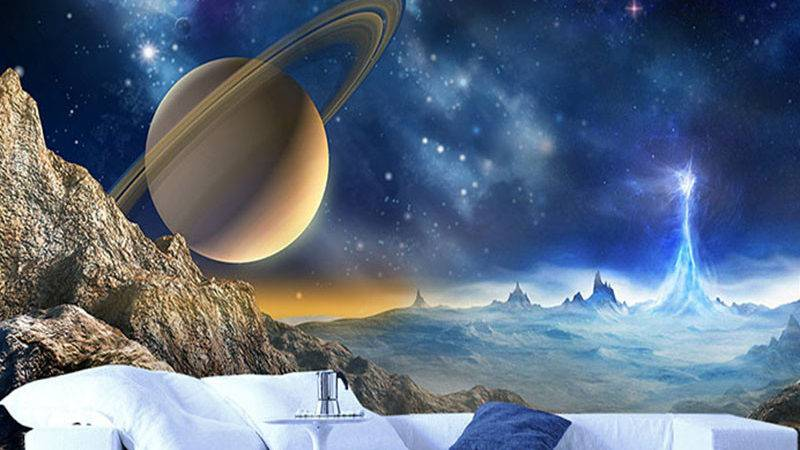Custom Mural Wall Outer Space Planet