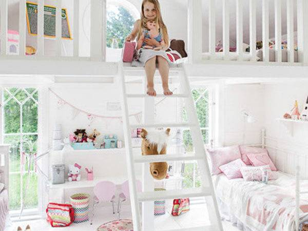 Cute Bedrooms Two Little Girl Home Design Interior