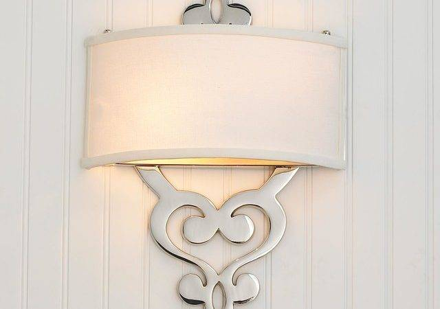 Damask Scroll Ada Wall Sconce Lamp Shades