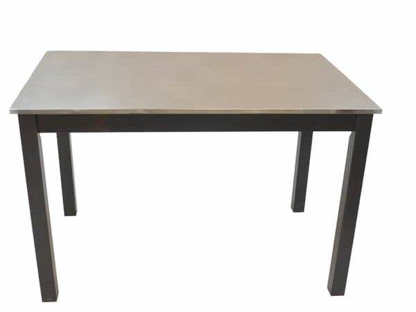 Darby Stainless Steel Top Table Overstock