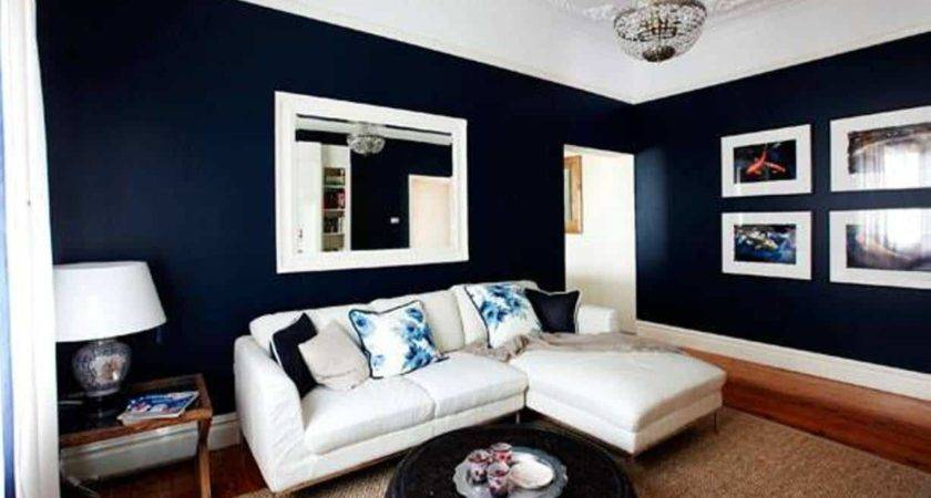 Dark Blue Living Room Modern House