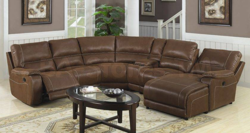 Dark Brown Oval Sectional Sofa Large Persian Living