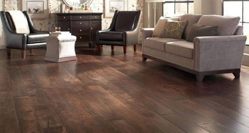 Dark Wood Floor Room Unique Living Decorating