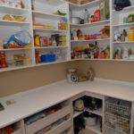 Dazzling Walk Kitchen Pantry Designs Shaped