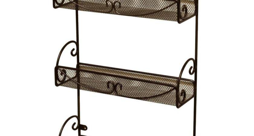 Decobros Tier Wall Mounted Spice Rack Bronze Ebay