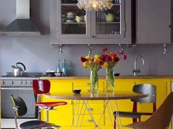 Decorate Kitchen Using Yellow Accents