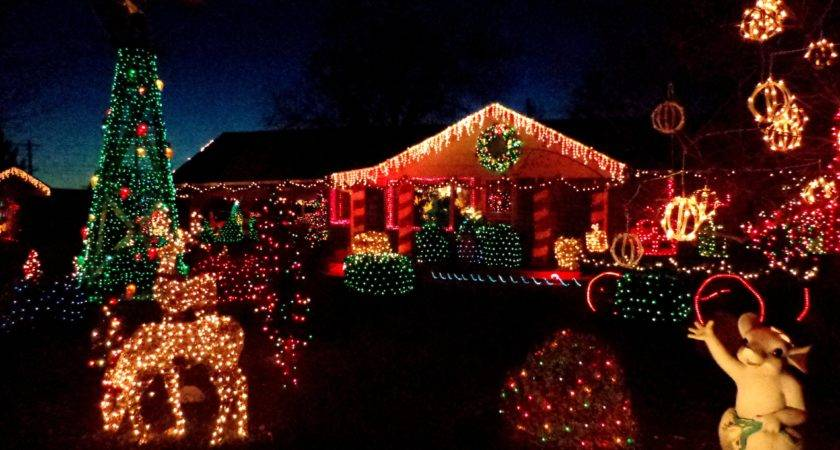 Decorated Christmas Lights Houses