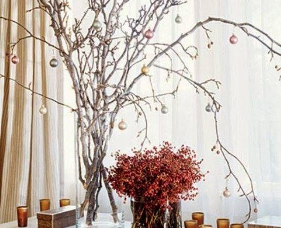 Decorating Christmas Branches Desired Home