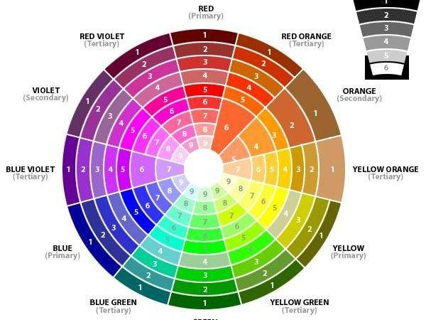Decorating Color Wheel Value Balance