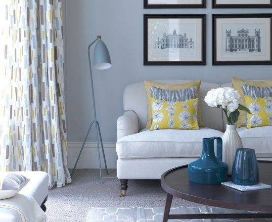 Decorating Ideas Grey Blue Home Attractive