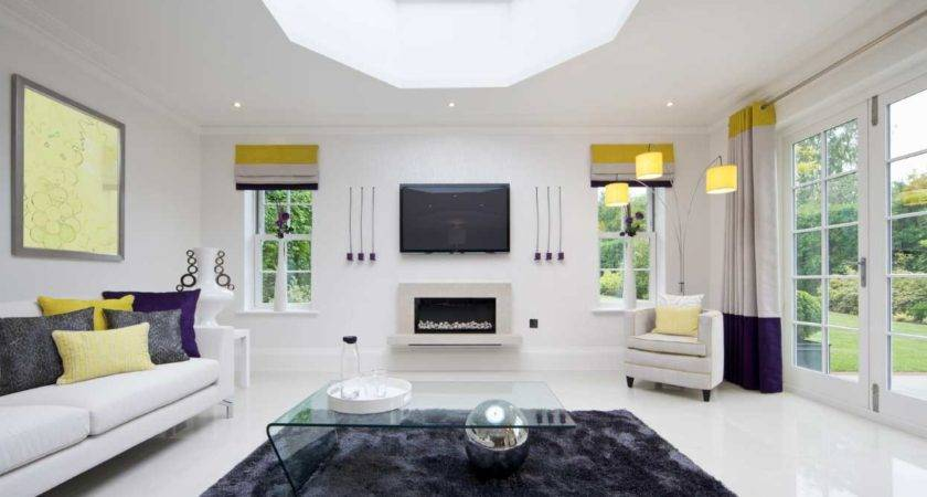 Decorating Ideas Living Room White Walls Home