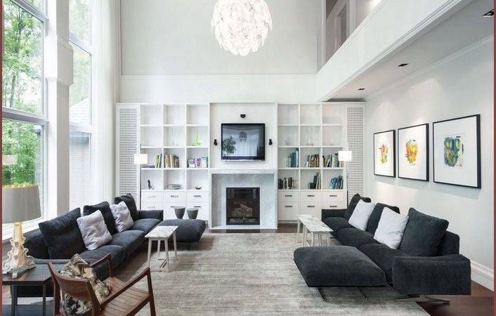Decorating Living Space Walls High Ceilings Home