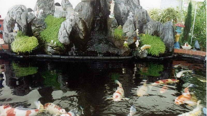 Decoration Decorative Waterfalls Koi Pond