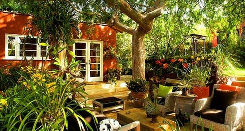 Decoration Landscaping Small Garden Ideas Nice Seater