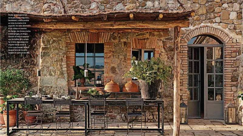 Decoration Rustic Italian Decorating Ideas Stones