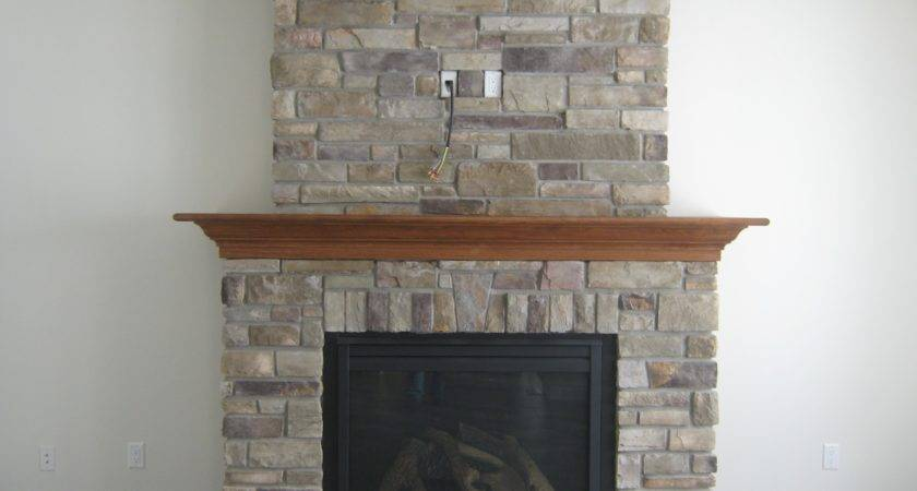 Decorations Apartment Fireplace Rock Ideas