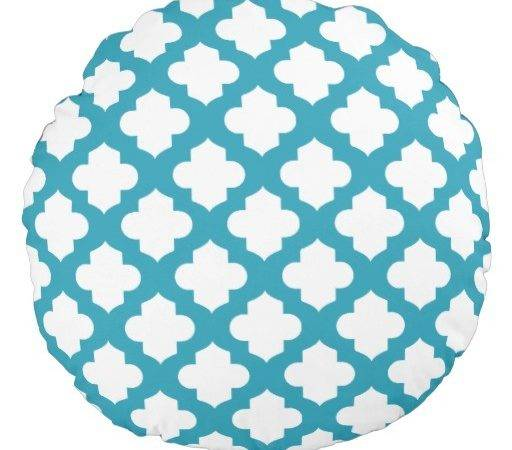 Decorative Quatrefoil Pillows Round Pillow Zazzle
