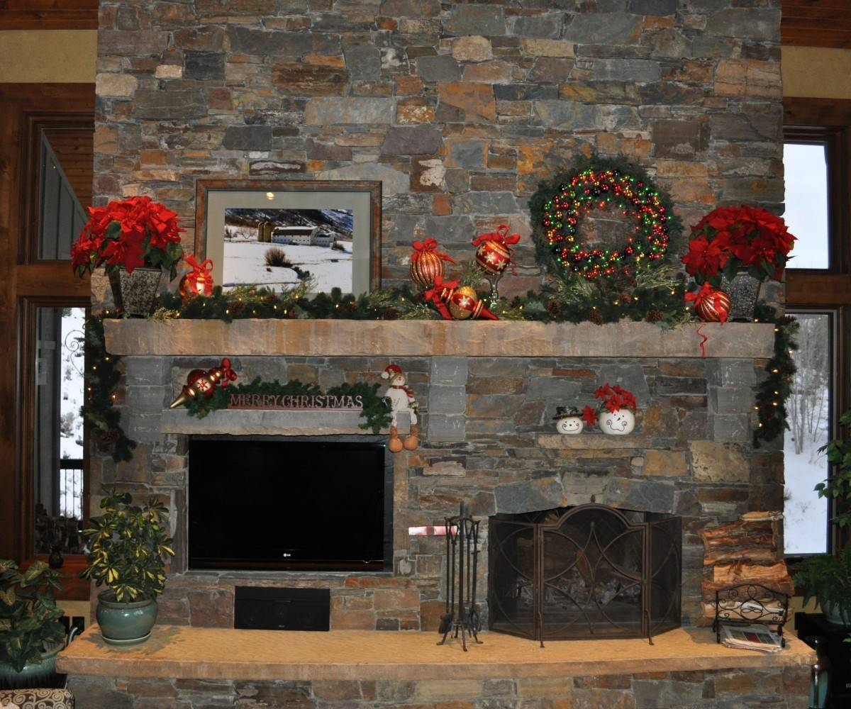 Decorative Stone Around Fireplace Fireplaces - The Inductive