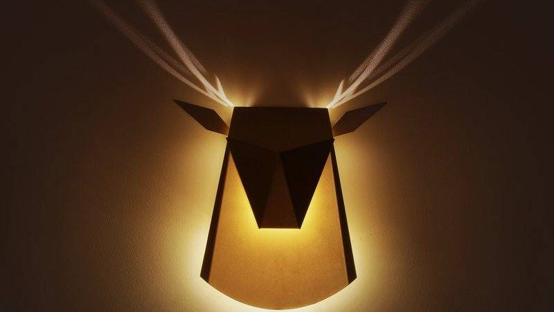 Deer Shaped Wall Lamp Cool Antlers Light Effect