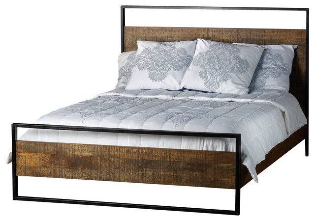 Delia Bed Made Mango Wood King Industrial Beds